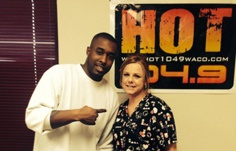 Hot 104.9's YOUR BOY Q with Ultimate Valentine's Winner PENNY MAHAVOY
